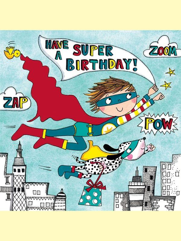 Super Hero Jigsaw Birthday Card