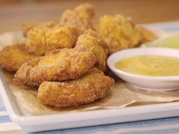 Nuggets Caseiros com Molho de Mostarda e Mel ♥