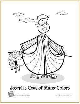 Joseph S Coat Of Many Colors Free Printable Bible Coloring Page