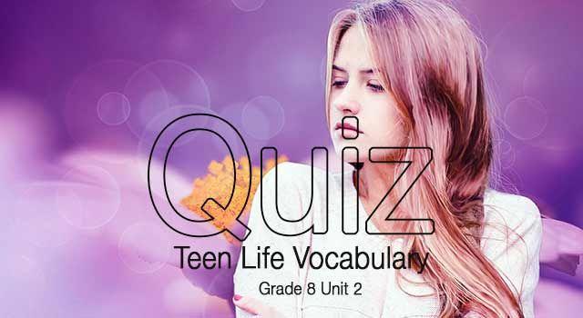 8. Sınıf Upturn in English kitabı Teen Life ünitesi A-B gruplu kelime quizini bu bağlantıdan PDF formatında indirebilirsiniz...