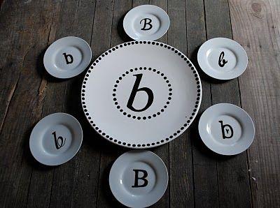 monagram plates