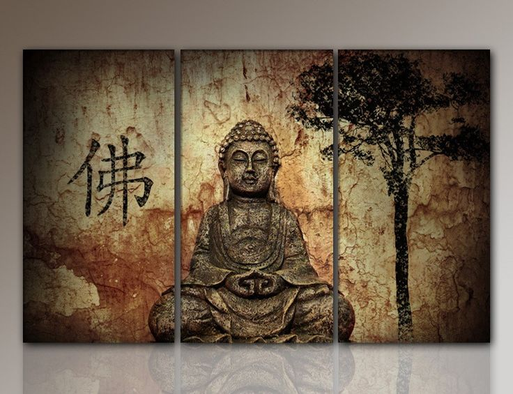 HD Buddha CANVAS PRINTS Modern 3 Panels Unframed Painting Home Decoration  Living Room Bedroom Decor Wall Fine Art