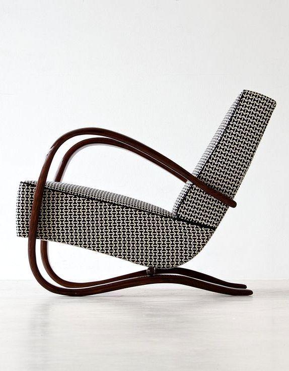 Jindrich Halabala . streamline armchair, 1930