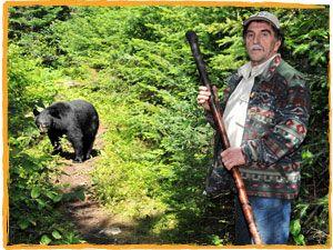 Observation de l'ours noir dans son habitat naturel au Domaine Le Pic Bois. Il est toujours spectaculaire d'apprécier la force, l'habileté, l'ingéniosité et la dextérité dont il fait preuve. La durée de l'excursion est d'environ 4 heures.