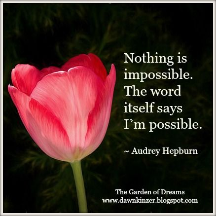 Inspirational  Quote on Possibilities