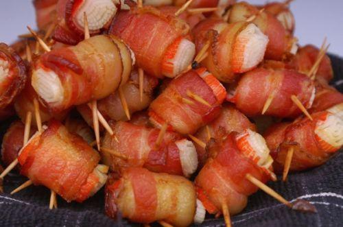 Crab and Bacon Rolls Newfoundland Recipe. Cookbook of Traditional Newfoundland Meals by Newfoundland.ws