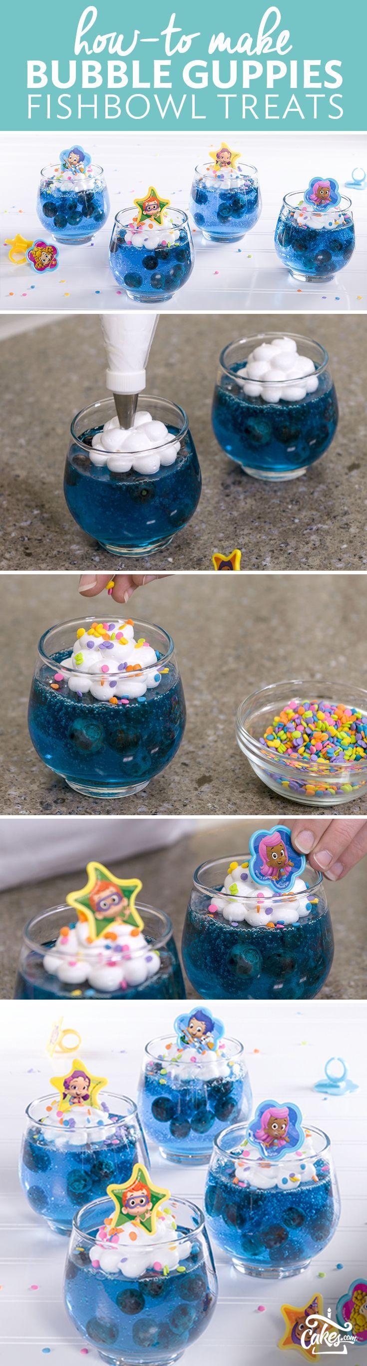 How-To Make Bubble Guppies Gelatin Fishbowl Birthday Treats