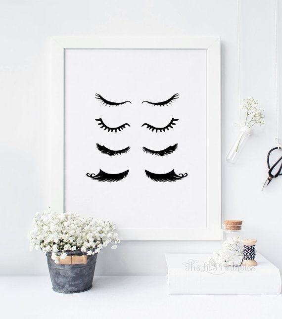 Eyelash Print, Eyelash Extension, Eyelash Art, Makeup Sign, Makeup Print, Make Wall Art, Beauty Print, Beauty Room Decor, Wall Art Printable