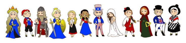 (2011-06) National personifications. The illustrator writes: First, let's make this clear: I did not make any of these up. They are all old national personifications of countries that I just re-drew. From left to right: