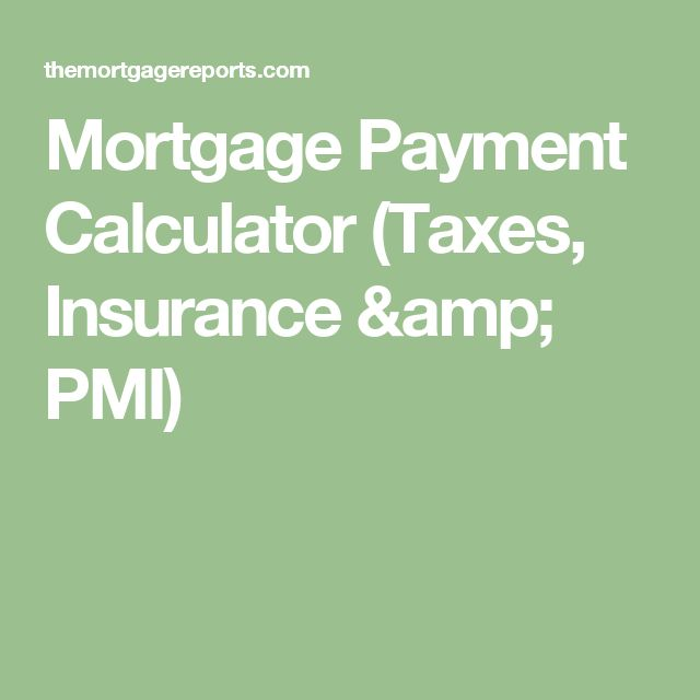 Mortgage Payment Calculator (Taxes, Insurance & PMI)