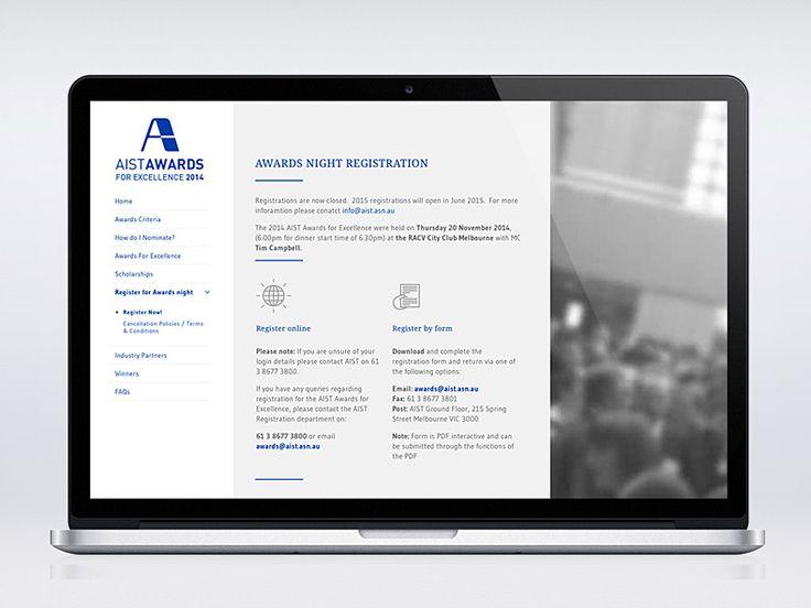 AIST Awards - Website on macbook mockup #webdesign #branding #digital