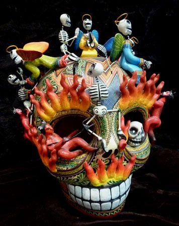 San Angel Folk Art- Day of the Dead, Dia de los Muertos and Halloween