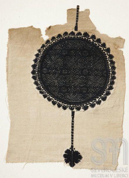 Fragment koptské tkaniny, Egypt, 4. - 5. stol., Severočeské muzeum v Liberci