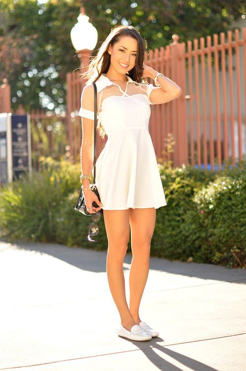 1000  ideas about White Skater Dresses on Pinterest | White ...