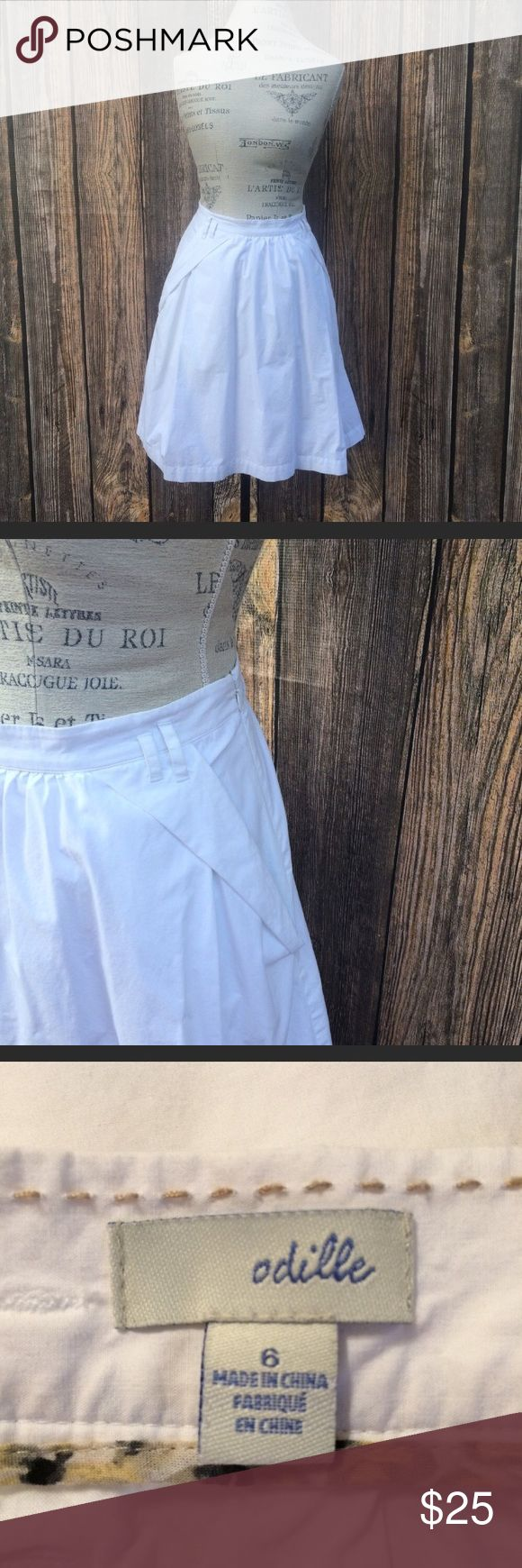 """Anthropologie Odille white high waste skirt size 6 Anthropologie Odille white high waste skirt size 6  🌺 Bundle deals offered. Check out my closet for a variety of sizes/brands 🌺 No trades, and holds or modeling 🌺 All reasonable offers accepted only through the """"offer"""" button. Please no lowball offers. Please submit offer you are willing to pay, as I prefer not to counteroffer.  🌺 God Bless Anthropologie Skirts Mini"""