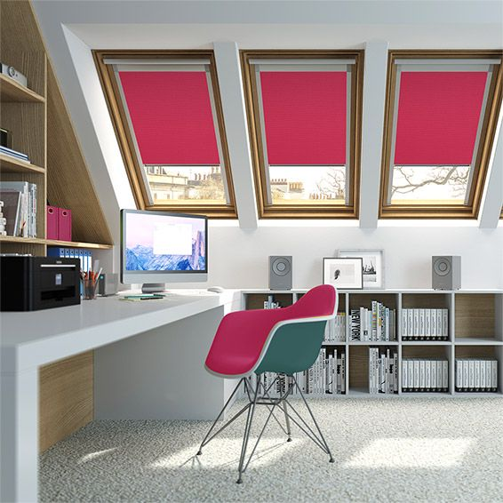 Expressions Hot Pink Blackout Blind for VELUX ® Windows from Blinds 2go