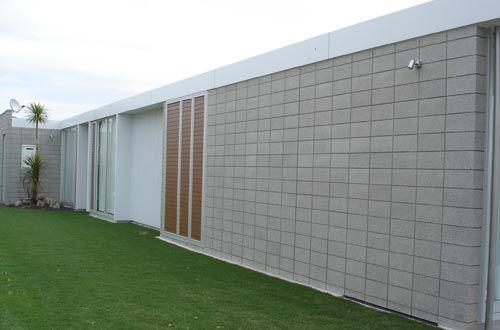 Stack bond concrete block google search roxby street for Besser block home designs