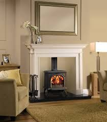 wood burning stove with mantel surround victorian - Google Search