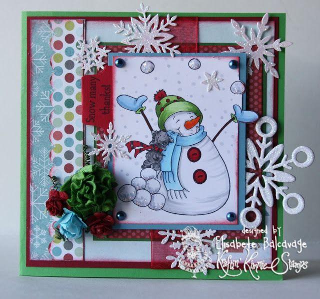 E Creations Snowman card