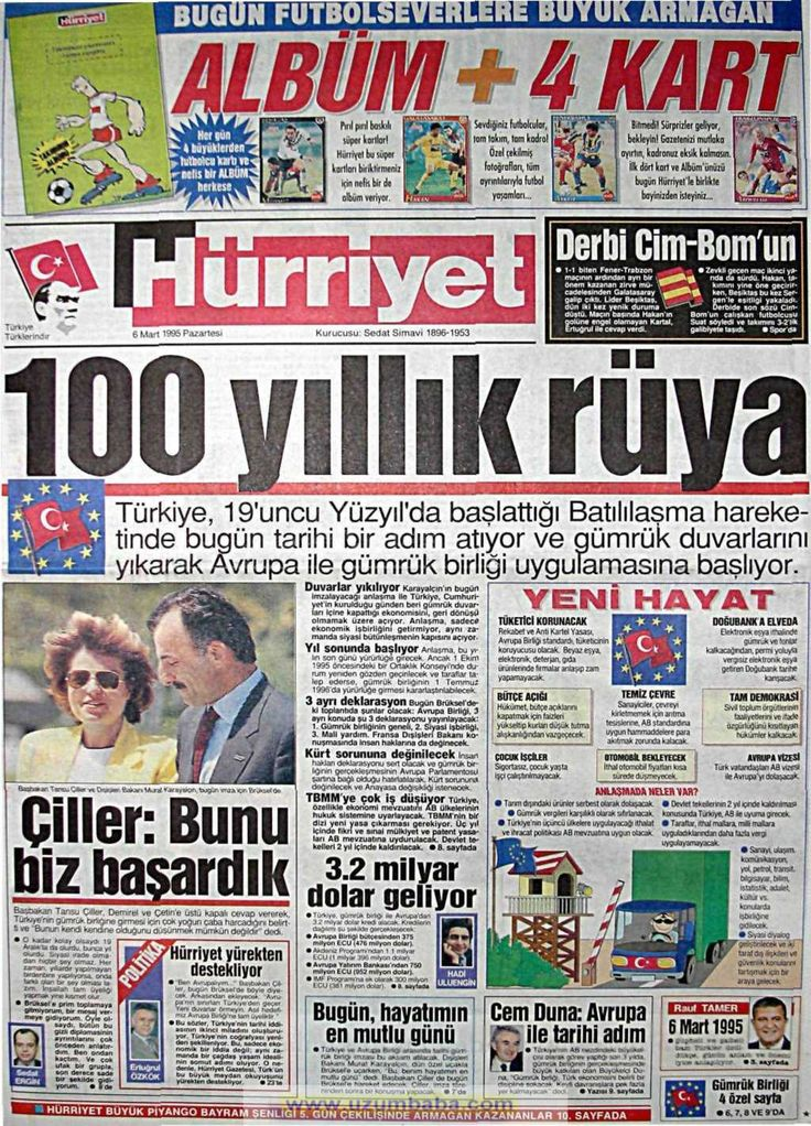 Hürriyet gazetesi 6 mart 1995