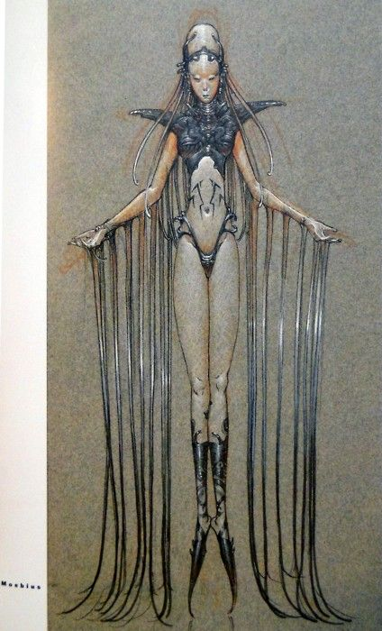 These Fifth Element images are from an art book about the film called The Story of The Fifth Element. Moebius' art work.