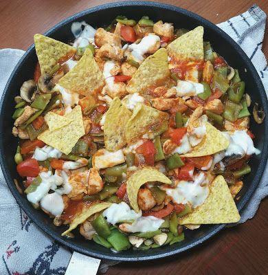 """Recetas Verofortyfit     """"Healthy and Delicious Food"""": SARTÉN DE POLLO O PAVO Y JUDÍAS AL WOK CON NACHOS ..."""