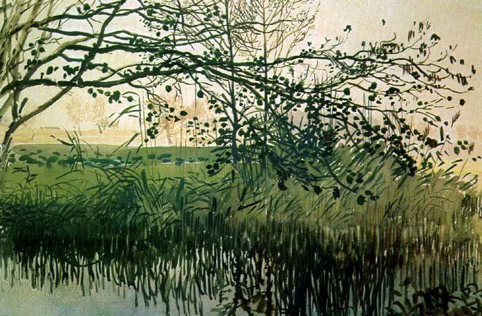 Stanisław Masłowski (1853-1926), Pond in Radziejowice, 1907, water-colour on paper, 39x42,5 - Stanisław Masłowski - Wikipedia, the free encyclopedia