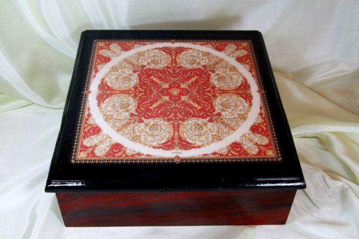 #Versace box realized with original print permission by Artist Ilian Rachov