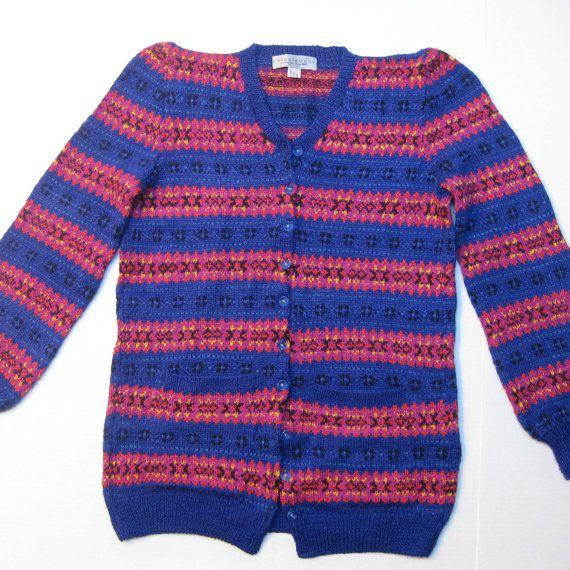 Edina Ronay Vintage Silk and Wool Long Cardigan by JackieSpicer