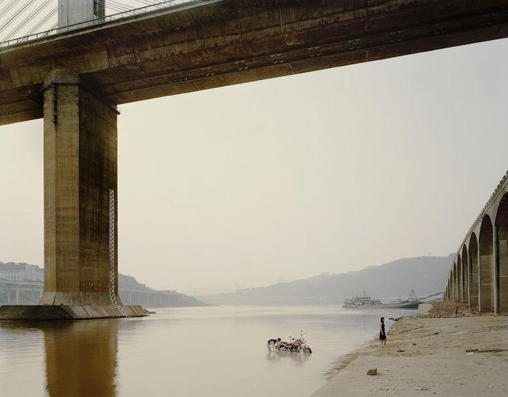 "Chongqing VII (Washing Bike), Chongqing Municipality.  From Nadav Kander's ""Yangtze: The Long River,"" A photo essay on China's longest river.  © 2010 Nadav Kander."
