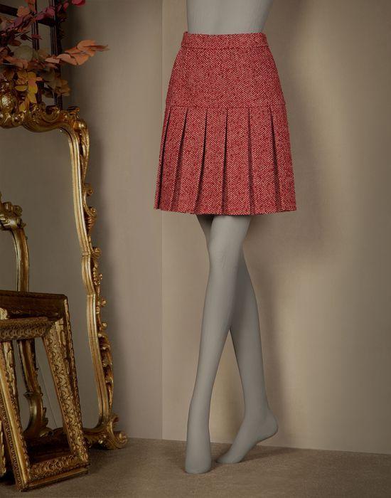 FALDA DE TABLAS DE ESPIGUILLA - Faldas por la rodilla - Dolce&Gabbana - Invierno 2015