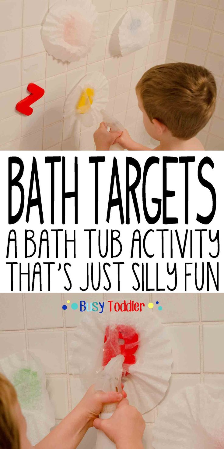 Bath Targets: A bath tub activity that's just silly fun.
