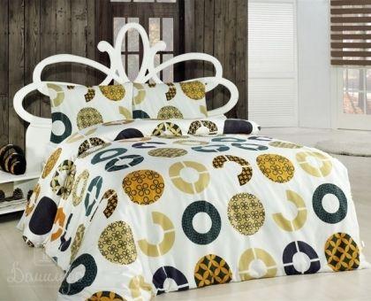 Купить постельное белье ALTINBASAK MIA желтое 50х70 1,5-сп от производителя Altinbasak (Турция)