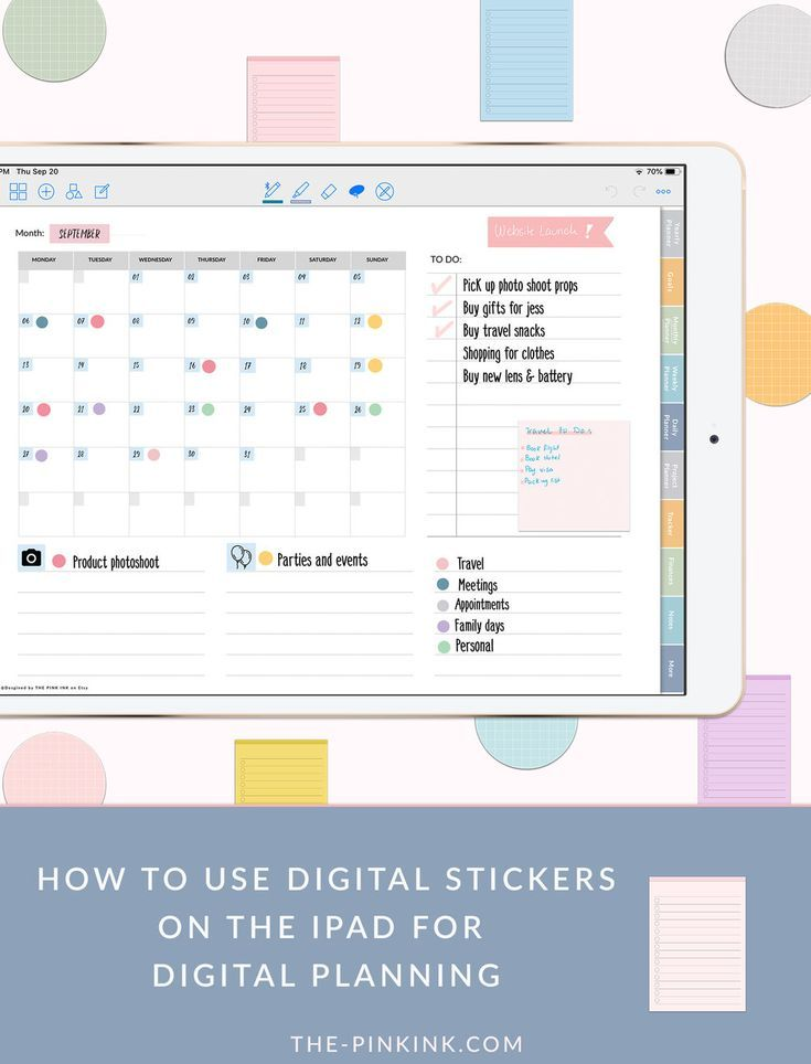image relating to Digital Planners and Organizers identify How towards seek the services of Electronic stickers inside of GoodNotes versus the-PinkInk