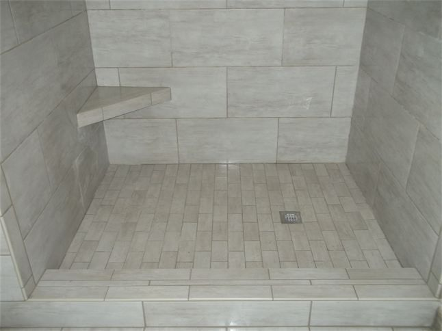 Attrayant Tile Layout With Subway Shower Floor