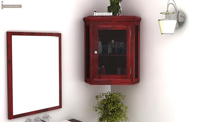 Buy Odom Bathroom Cabinet Mahogany Finish Online In India Wooden Street Cabinet Wooden Bathroom Cabinets Wooden Street