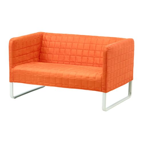 IKEA KNOPPARP 2-seat sofa Orange KNOPPARP sofa is very durable thanks to the metal construction and strong supporting fabric.