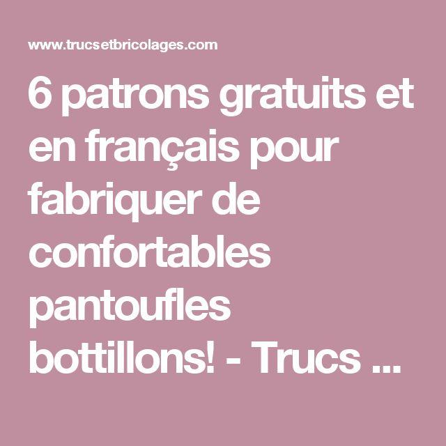 6 patrons gratuits et en français pour fabriquer de confortables pantoufles bottillons! - Trucs et Bricolages