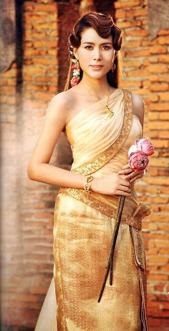 79 best thai celebrities images on pinterest thai dress for Thai style wedding dress