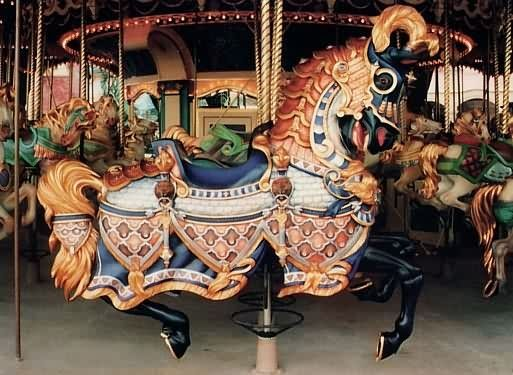 Lead horse for the Disneyland carousel