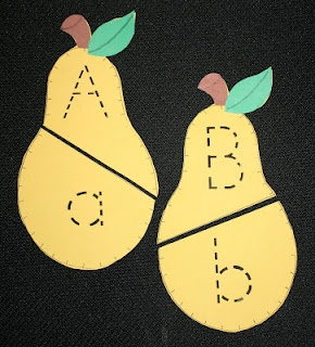 Pear Pairs- capital lower case letter match