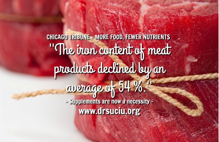 Picture The iron content of meat declined - drsuciu