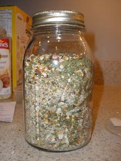 ~Salsa Mix (like Ball or Mrs Wages Salsa Mix)~ 1/2 c.crushed dried red pepper 1 T parsley flakes 3 T cilantro flakes 1/2 c onion flakes 2 T dried, minced garlic 2 T canning salt (NOT table salt, your salsa will eventually turn cloudy) 1 T black pepper