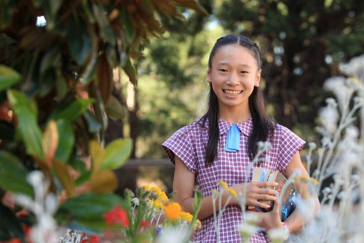 Ahead of the class: At only 12, Hoyori Maruo blitzes maths beyond her years. Picture: Chris Lane