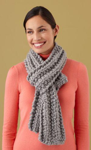 Free Loom Pattern L10132 Loom Knit Mistake Rib Scarf : Lion Brand Yarn Company