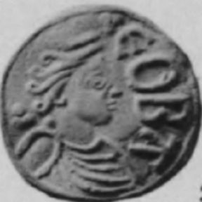 Cynethryth (Cyneðryð; died after AD 798) was the wife of Offa of Mercia and mother of Ecgfrith of Mercia. Cynethryth is the only Anglo-Saxon Queen consort in whose name coinage was definitely issued.: Anglo Saxon Queen, Ancient Coins, Queen Of, Queen Consort, King Offa, Anglo Saxon King, Definitely Issued, Coins Issued, King Ecgfrith