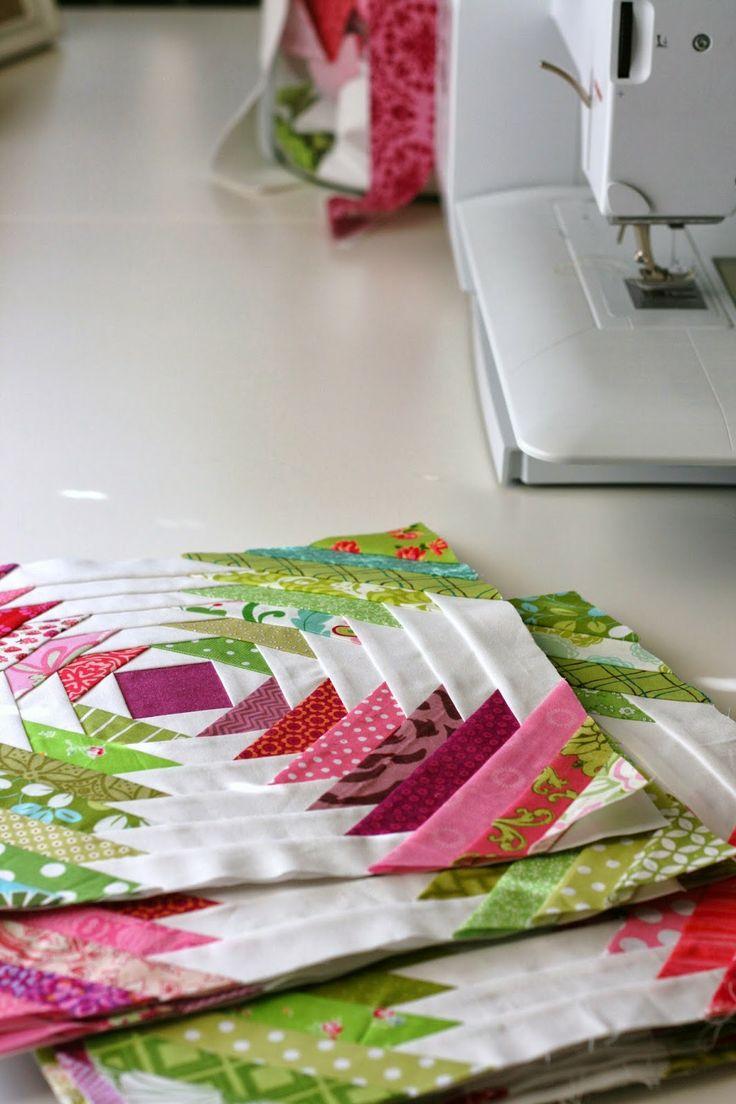 Pineapple Quilt Progress Patterns - A Little Bit Biased