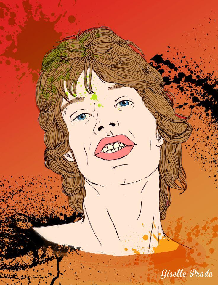 Mick Jagger Illustration