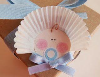 Artesanato Viviane Magalhães: lembrancinha de chá de bebê com forminha de docinho