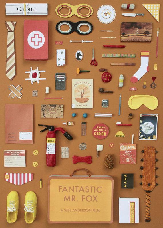 Cartel de fantástico Sr. Fox A4, obras de arte de Jordania Bolton